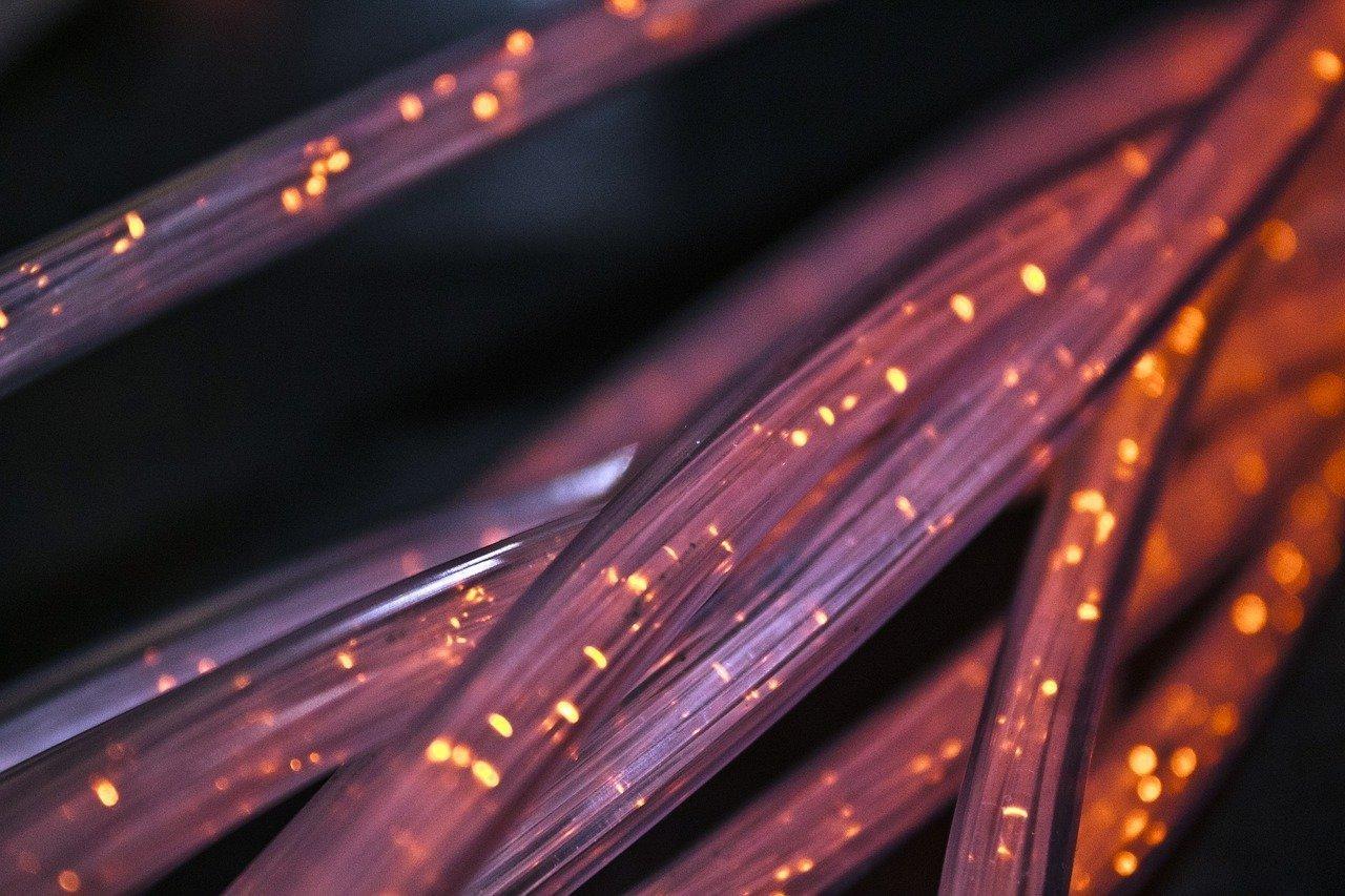 fiber, cable, connection